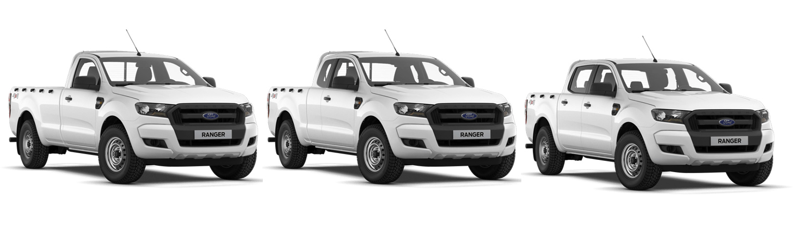 Ford Ranger: Single Cab, Super Cab и Double Cab